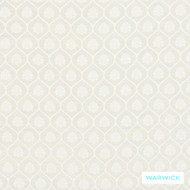 Warwick Winslow Aylesbury Ivory  | Curtain & Upholstery fabric - White, Damask, Fibre Blends, Geometric, Traditional, Washable, Domestic Use, Natural, White, Standard Width
