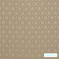 Warwick Winslow Aylesbury Parchment    Curtain & Upholstery fabric - Diaper, Fibre Blends, Geometric, Linen and Linen Look, Mediterranean, Ogee, Tan, Taupe, Traditional