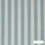 Warwick Winslow Eastbourne Duck Egg  | Curtain & Upholstery fabric - Blue, Fibre Blends, Stripe, Traditional, Washable, Domestic Use, Standard Width