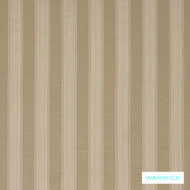 Warwick Winslow Eastbourne Parchment  | Curtain & Upholstery fabric - Fibre Blends, Linen and Linen Look, Stripe, Traditional, Washable, Domestic Use, Natural, Standard Width