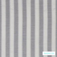 Warwick Winslow Eastbourne Pewter  | Curtain & Upholstery fabric - Grey, Fibre Blends, Stripe, Traditional, Washable, Domestic Use, Standard Width