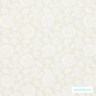 Warwick Winslow Harrogate Ivory  | Curtain & Upholstery fabric - White, Fibre Blends, Floral, Garden, Traditional, Washable, Domestic Use, Natural, White, Standard Width