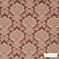 Warwick Winslow Bordeaux  | Curtain & Upholstery fabric - Brown, Damask, Fibre Blends, Traditional, Washable, Domestic Use, Standard Width