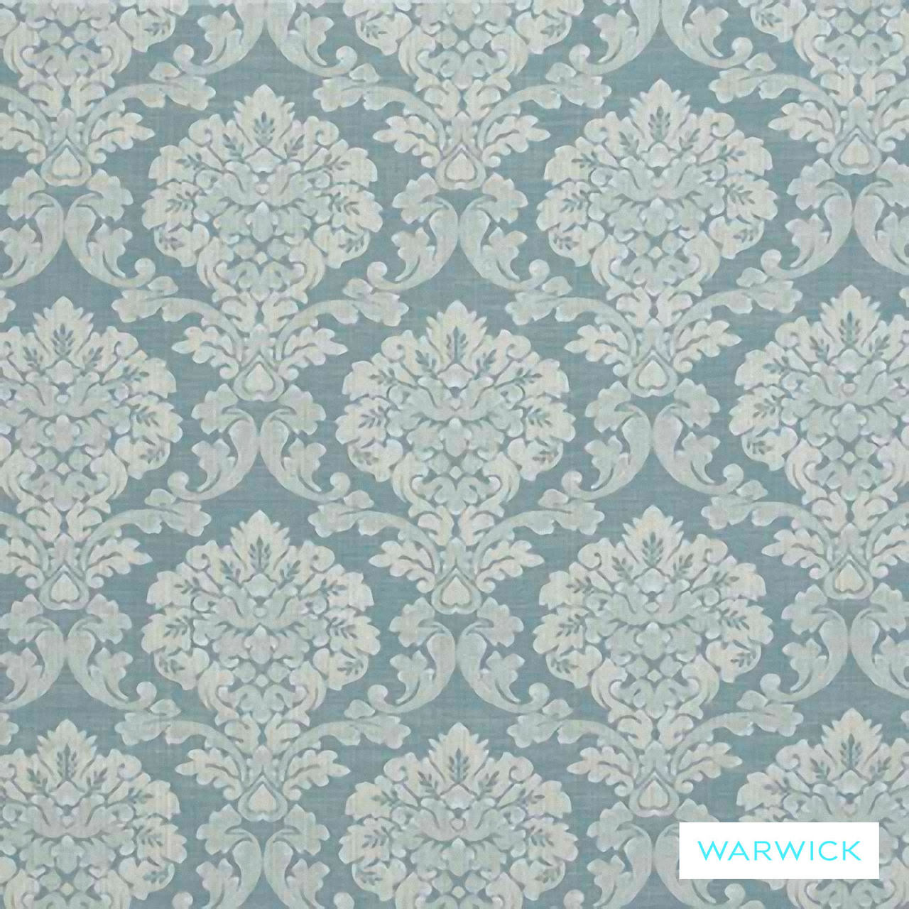 Soft Furnishing Fabric Warwick Winslow Duck Egg