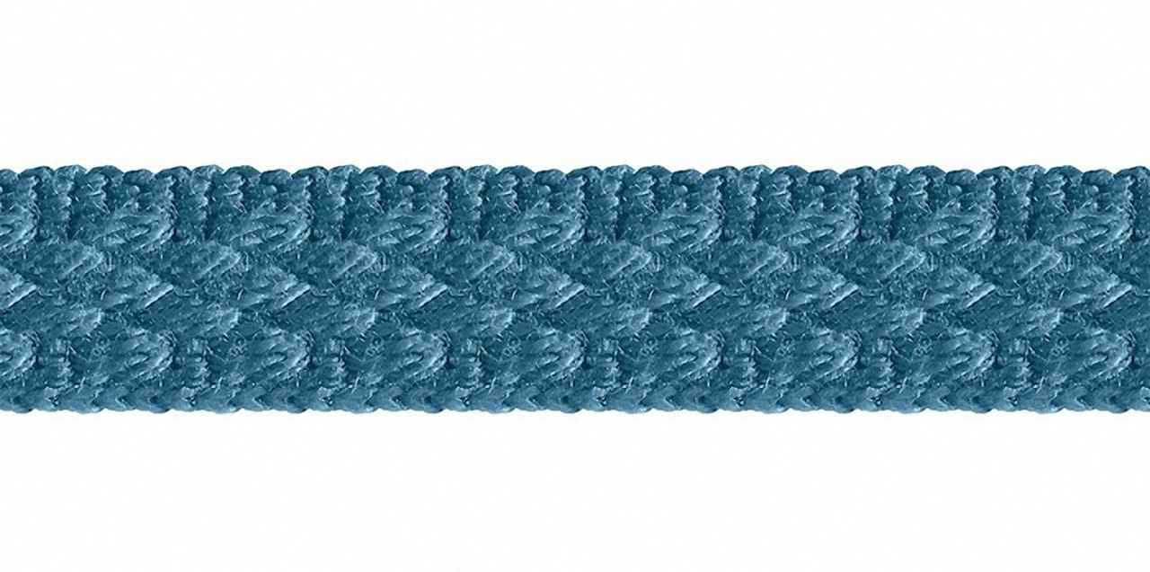 Houles - 31155 Braid 10mm - 9670  | Gimps & Braids, Curtain & Upholstery Trim - Blue, Deco, Decorative, Synthetic, Domestic Use