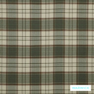 Warwick Wool Library Bainbridge Olive  | Curtain & Upholstery fabric - Brown, Check, Fibre Blends, Traditional, Washable, Commercial Use, Standard Width