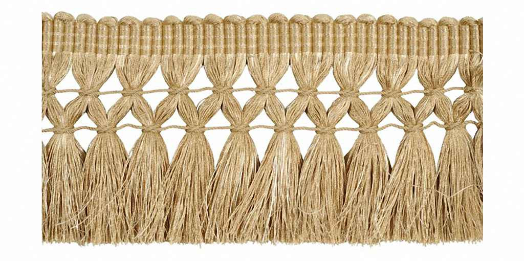 Houles - 33126 Onyx Postillon Metallic Fringe - 9123  | Fringe, Curtain & Upholstery Trim - Beige, Brown, Deco, Decorative, Synthetic, Washable, Domestic Use