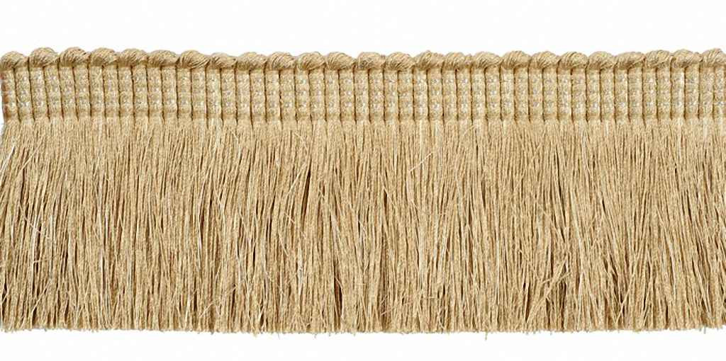 Houles - 33131 Onyx Metallic Cut Fringe - 9123  | Fringe, Curtain & Upholstery Trim - Beige, Brown, Deco, Decorative, Synthetic, Washable, Domestic Use