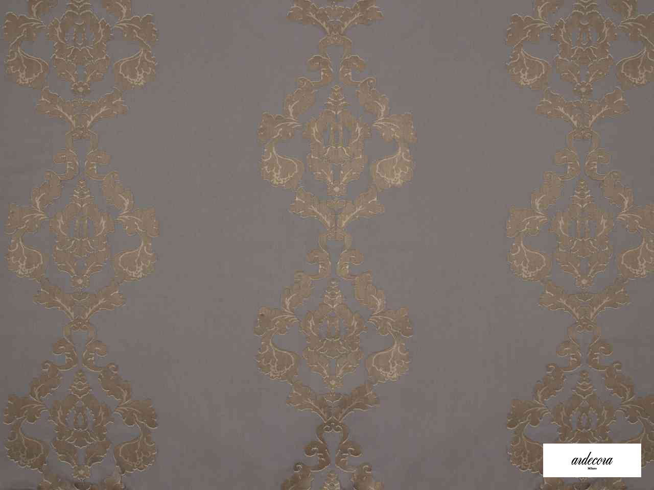 Ardecora - Baggio - 15381.886  | Curtain Fabric - Brown, Damask, Synthetic, Domestic Use, Railroaded, Wide Width