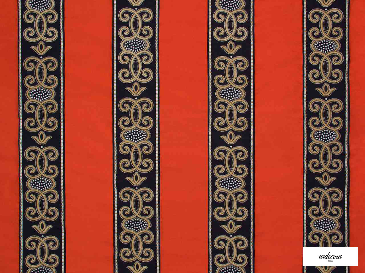 Ardecora - Duomo - 15376.295  | Curtain Fabric - Fibre Blends, Stripe, Traditional, Domestic Use, Standard Width, Rococo