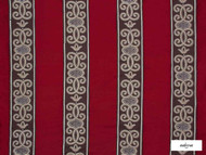 Ardecora - Duomo - 15376.387  | Curtain Fabric - Red, Stripe, Traditional, Rococo, Fibre Blend, Standard Width