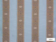 Ardecora - Duomo - 15376.684  | Curtain Fabric - Blue, Fibre Blends, Stripe, Traditional, Domestic Use, Standard Width, Rococo