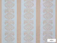 Ardecora - Galleria - 15386.684  | Curtain Fabric - Blue, Grey, Damask, Fibre Blends, Stripe, Domestic Use, Standard Width, Rococo
