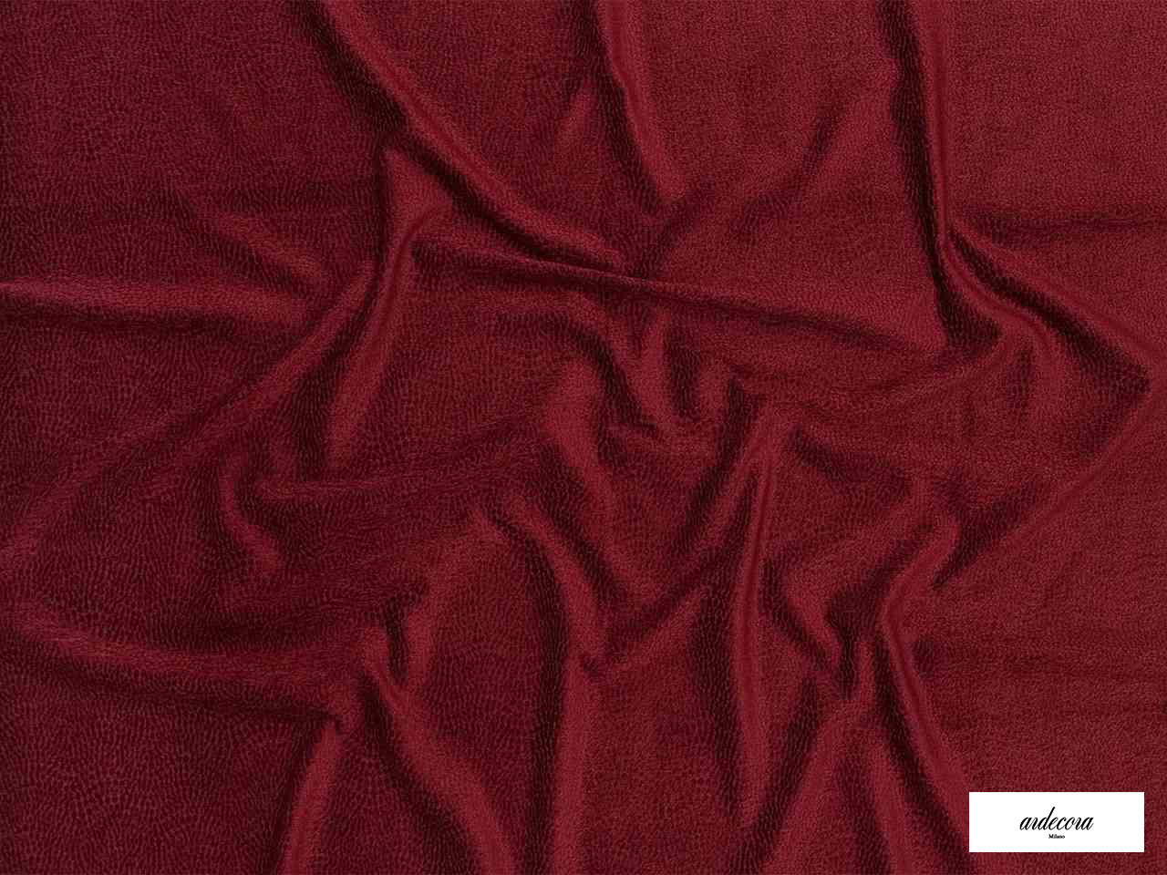 Ardecora - Josephine Baker - 15321.335  | Curtain & Upholstery fabric - Burgundy, Plain, Synthetic, Domestic Use, Standard Width