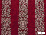 Ardecora - Meda - 15370.387  | Curtain Fabric - Red, Stripe, Traditional, Damask, Rococo, Fibre Blend, Standard Width