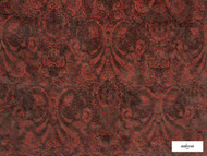 Ardecora - Novecento - 15383.286  | Upholstery Fabric - Orange, Traditional, Damask, Rococo, Fibre Blend, Standard Width