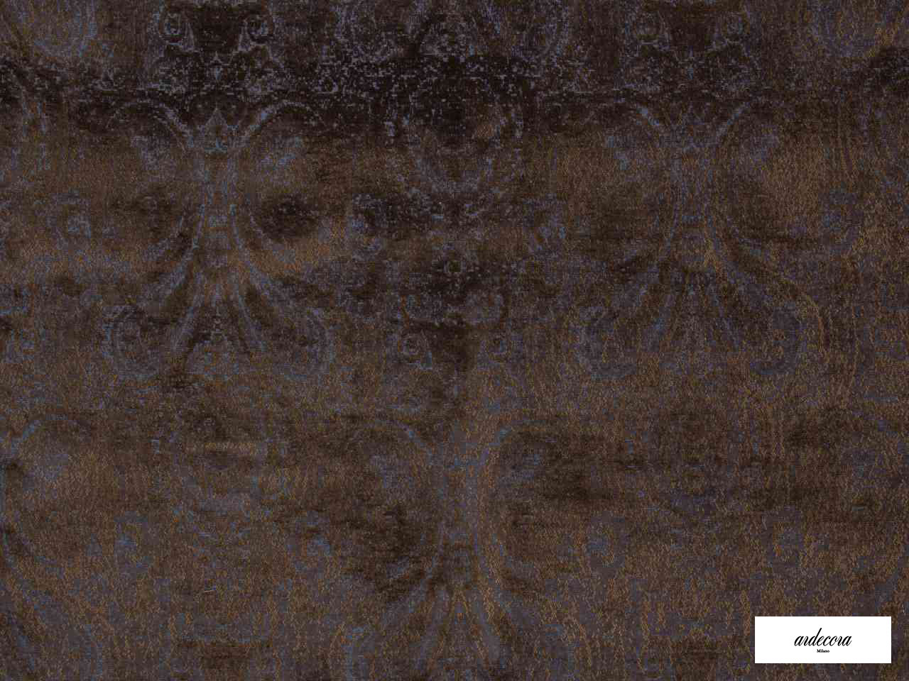 Ardecora - Novecento - 15383.588  | Upholstery Fabric - Brown, Damask, Fibre Blends, Traditional, Domestic Use, Standard Width, Rococo