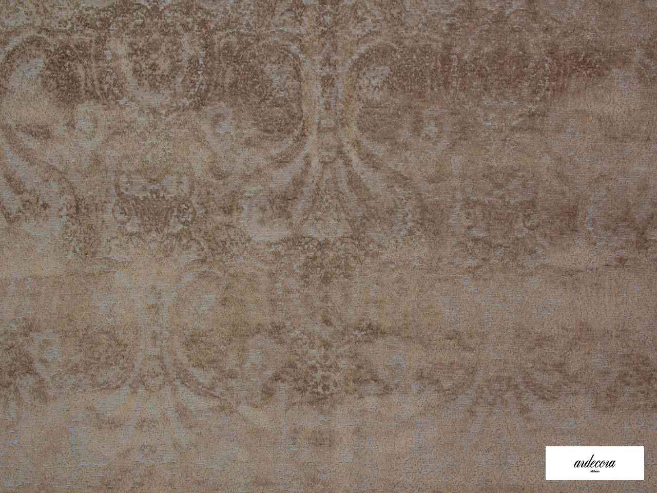 Ardecora - Novecento - 15383.886  | Upholstery Fabric - Brown, Damask, Fibre Blends, Traditional, Domestic Use, Standard Width, Rococo