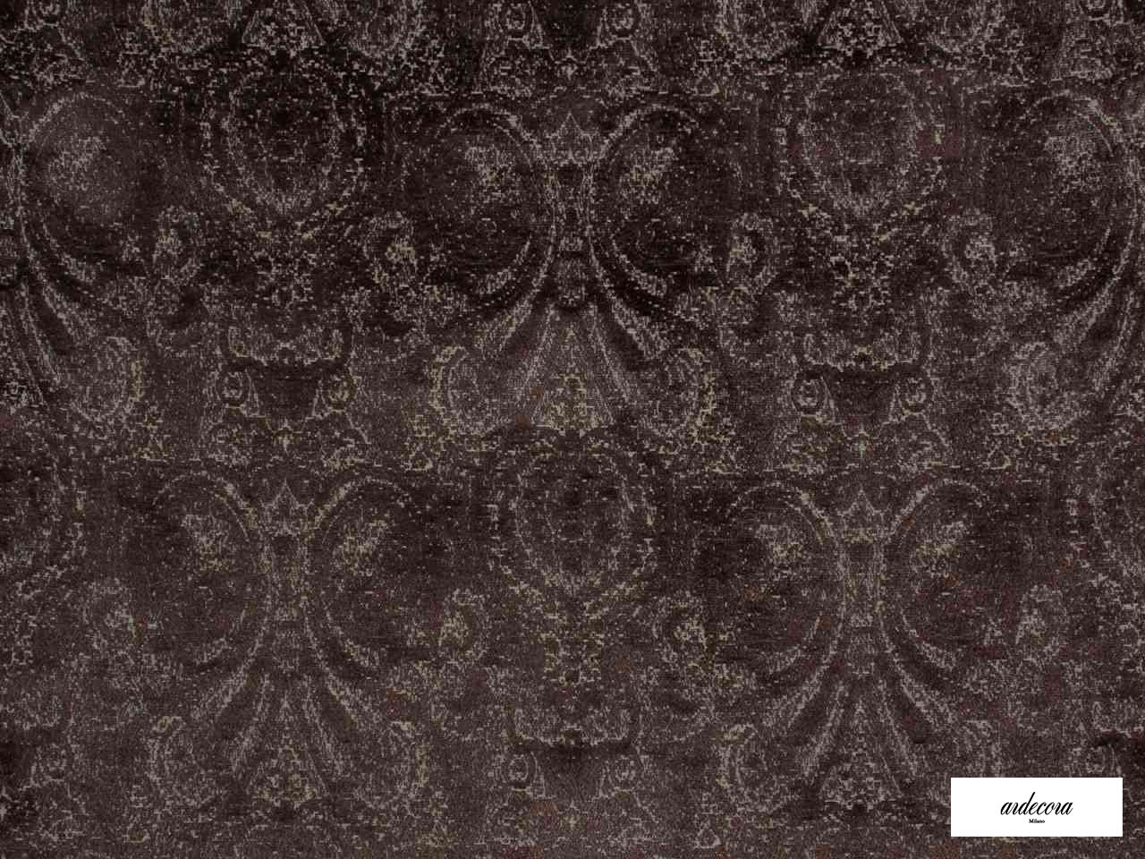 Ardecora - Novecento - 15383.888  | Upholstery Fabric - Brown, Damask, Fibre Blends, Traditional, Domestic Use, Standard Width, Rococo