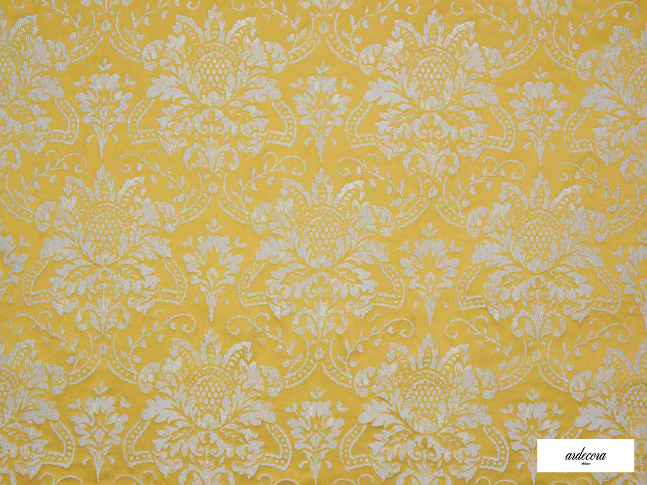 Ardecora - San Babila - 15378.184  | Curtain Fabric - Gold,  Yellow, Damask, Foulard, Synthetic, Traditional, Domestic Use, Standard Width, Rococo