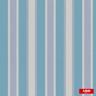 Ado - Solm - 1347-653  | Curtain Fabric - Blue, Stripe, Synthetic, Traditional, Domestic Use, Railroaded, Wide Width