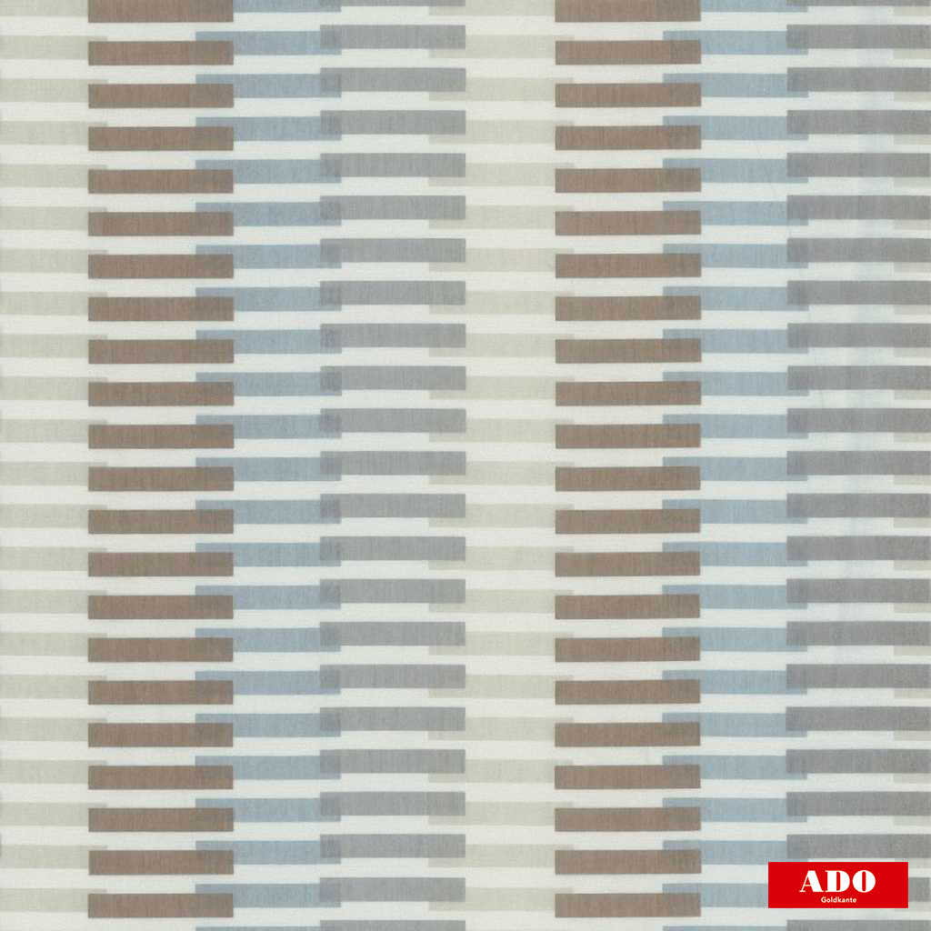 Ado - Vista - 8109-673  | Curtain Fabric - Blue, Brown, Contemporary, Stripe, Synthetic, Domestic Use, Railroaded, Wide Width