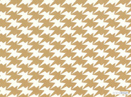 Kirkby Design - Zig Zag Birds Wallcovering Gold  | Wallpaper, Wallcovering - Check, Geometric, Chevron, Zig Zag, Domestic Use, Houndstooth