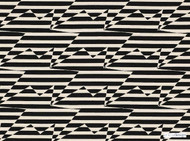 Kirkby Design - Stripey Zig Zag Birds Monochrome  | Curtain & Upholstery fabric - Black - Charcoal, Fibre Blends, Geometric, Abstract, Chevron, Zig Zag, Commercial Use