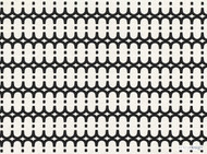 Kirkby Design - Loopy Link Monochrome  | Curtain & Upholstery fabric - Black - Charcoal, Fibre Blends, Geometric, Domestic Use, Dry Clean, Standard Width
