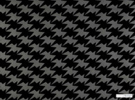 Kirkby Design - Zig Zag Birds Wallcovering Noir  | Wallpaper, Wallcovering - Black - Charcoal, Check, Geometric, Chevron, Zig Zag, Domestic Use, Houndstooth