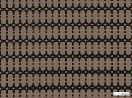 Kirkby Design - Loopy Link Espresso    Curtain & Upholstery fabric - Brown, Fibre Blends, Geometric, Domestic Use, Dry Clean, Standard Width
