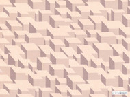 Kirkby Design - Cubic Bumps Powder  | Curtain & Upholstery fabric - Beige, Geometric, Small Scale, Synthetic, Abstract, Domestic Use, Dry Clean, Standard Width