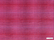 Kirkby Design - Domino Pyramid Azalea  | Upholstery Fabric - Fibre Blends, Geometric, Pink, Purple, Small Scale, Velvet/Faux Velvet, Commercial Use, Dry Clean, Standard Width