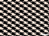 Kirkby Design - Zig Zag Birds Wallcovering Powder  | Wallpaper, Wallcovering - Black - Charcoal, Check, Geometric, Chevron, Zig Zag, Domestic Use, Houndstooth