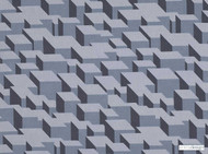Kirkby Design - Cubic Bumps Steel  | Curtain & Upholstery fabric - Grey, Geometric, Small Scale, Synthetic, Abstract, Domestic Use, Dry Clean, Standard Width