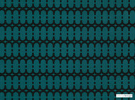 Kirkby Design - Loopy Link Teal  | Curtain & Upholstery fabric - Fibre Blends, Geometric, Domestic Use, Dry Clean, Standard Width