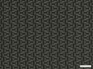 Mark Alexander - Salient Metal  | Upholstery Fabric - Black - Charcoal, Geometric, Natural Fibre, Small Scale, Velvet/Faux Velvet, Commercial Use, Diamond - Harlequin