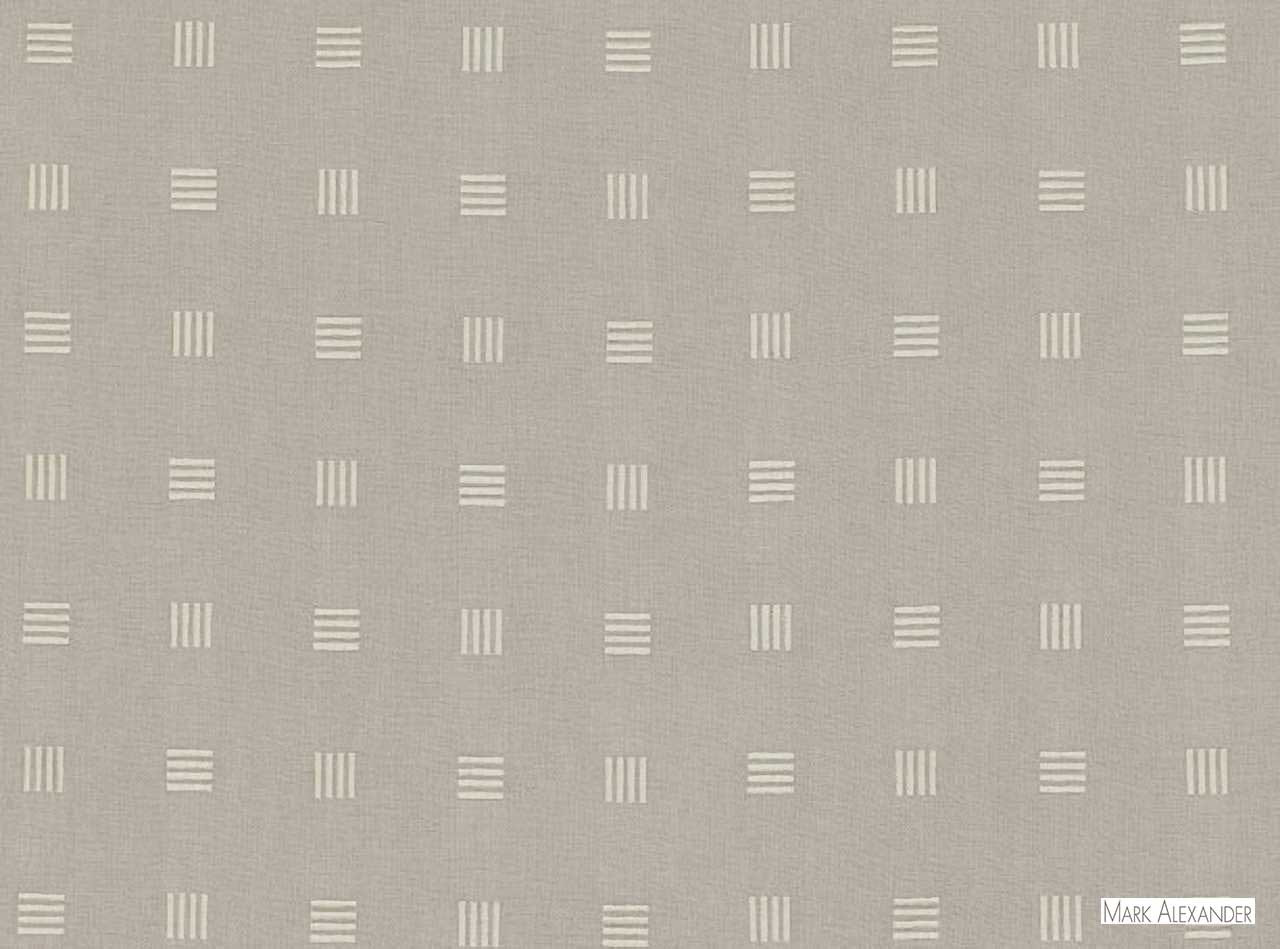 Mark Alexander - Icon Storm  | Curtain & Upholstery fabric - Geometric, Natural Fibre, Domestic Use, Dry Clean, Natural, Standard Width
