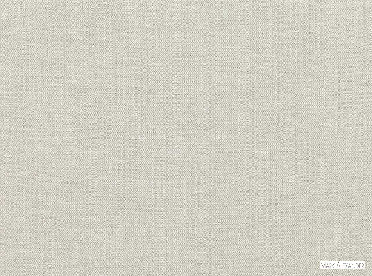 Mark Alexander - Stipple Silverbirch  | Curtain & Upholstery fabric - Plain, Silver, White, Natural Fibre, Commercial Use, Dry Clean, Natural, Textured Weave, White