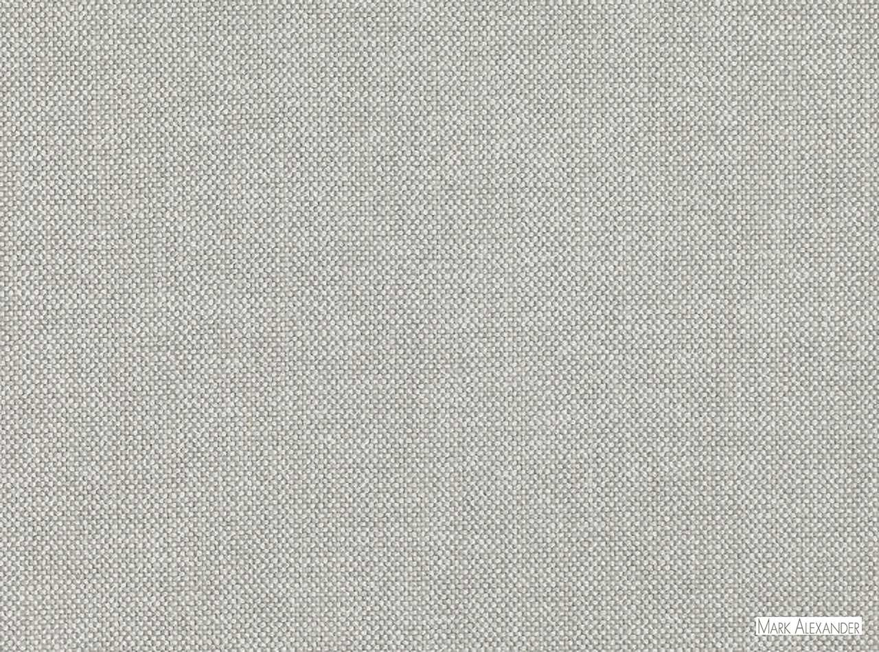 Mark Alexander - Checker French Grey  | Upholstery Fabric - Grey, Plain, Fibre Blends, Commercial Use, Dry Clean, Textured Weave, Plain - Textured Weave, Standard Width