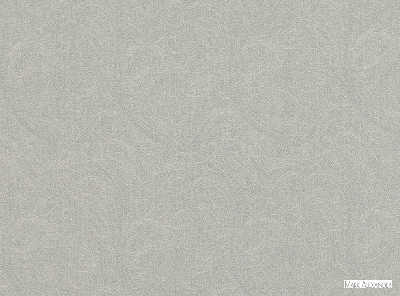 Mark Alexander - Cadence Dove  | Curtain & Upholstery fabric - Grey, Natural Fibre, Paisley, Domestic Use, Dry Clean, Natural, Standard Width