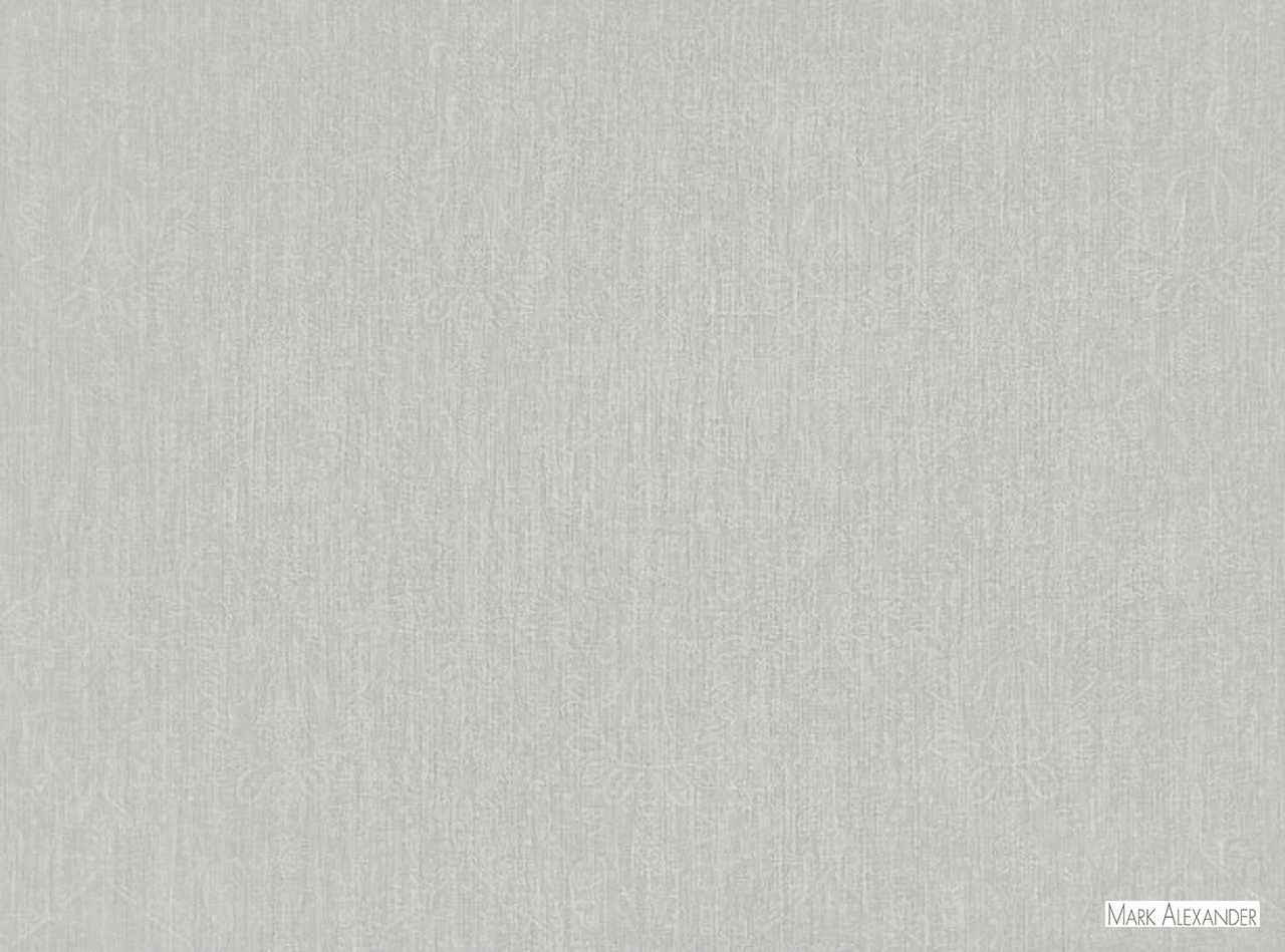 Mark Alexander - Adagio French Grey  | Curtain Fabric - Grey, Damask, Natural Fibre, Traditional, Domestic Use, Dry Clean, Natural, Standard Width