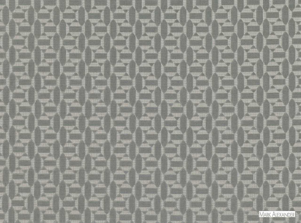 Mark Alexander - Salient Storm  | Upholstery Fabric - Grey, Geometric, Natural Fibre, Small Scale, Velvet/Faux Velvet, Commercial Use, Diamond - Harlequin, Dry Clean