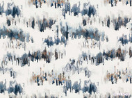 Villa Nova - Norrland Indigo  | Curtain & Upholstery fabric - Blue, White, Natural Fibre, Washable, Abstract, Domestic Use, Dry Clean, Natural, White, Standard Width