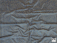 Zimmer and Rohde - Raku - 10476.586  | Upholstery Fabric - Blue, Brown, Plain, Natural Fibre, Commercial Use, Natural, Standard Width