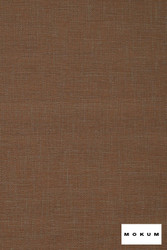 Mokum Sahel - Copper  | Upholstery Fabric - Stain Repellent, Brown, Fire Retardant, Plain, Natural Fibre, Domestic Use, Dry Clean, Natural, Standard Width, Strie