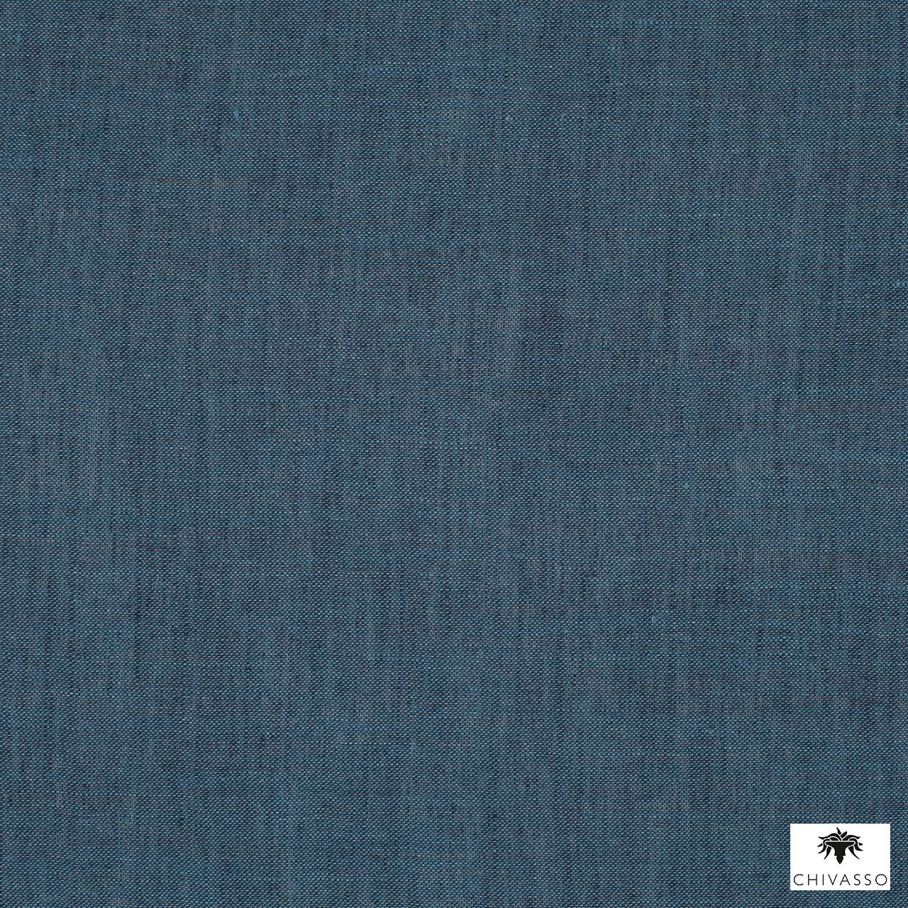 Chivasso - Vintage Soul - Ch2770-051  | Curtain Fabric - Blue, Plain, Natural Fibre, Domestic Use, Natural, Railroaded, Wide Width, Strie