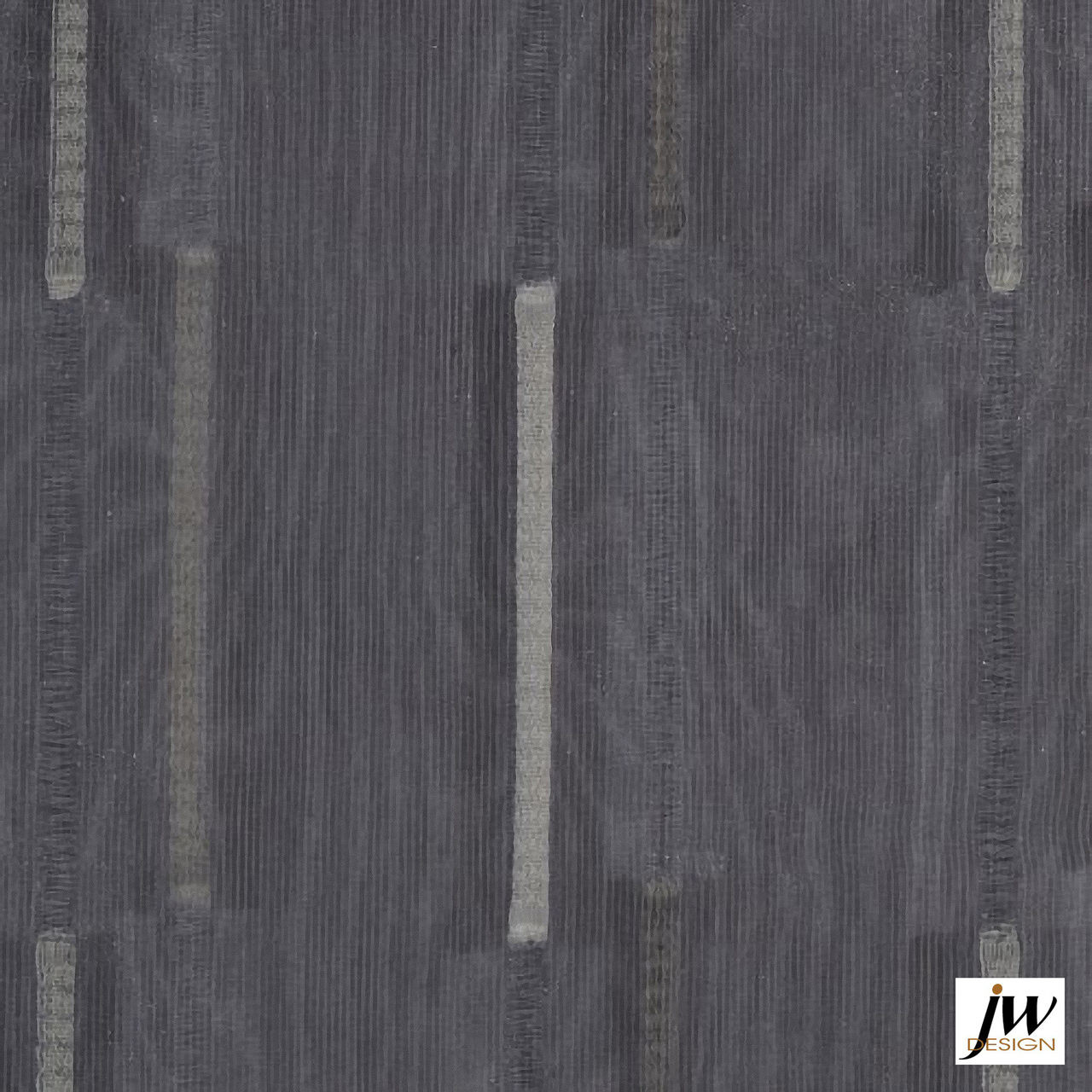 JW Design - Parade Natural Sheer 300cm  | Curtain Sheer Fabric - Silver, Black - Charcoal, Contemporary, Modern, Pattern, Synthetic, Washable, Domestic Use, Weighted Hem