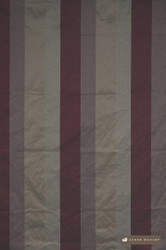 James Dunlop Sorrento - Bordeaux  | Curtain Fabric - Burgundy, Red, Fibre Blends, Stripe, Traditional, Domestic Use, Dry Clean, Top of Bed, Standard Width