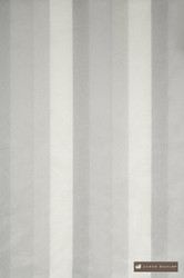 James Dunlop Sorrento - Macaroon  | Curtain Fabric - Silver, White, Fibre Blends, Stripe, Traditional, Domestic Use, Dry Clean, Top of Bed, White, Standard Width